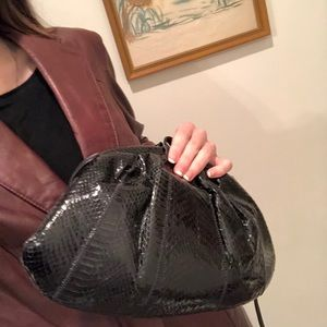 vintage snakeskin shoulder purse